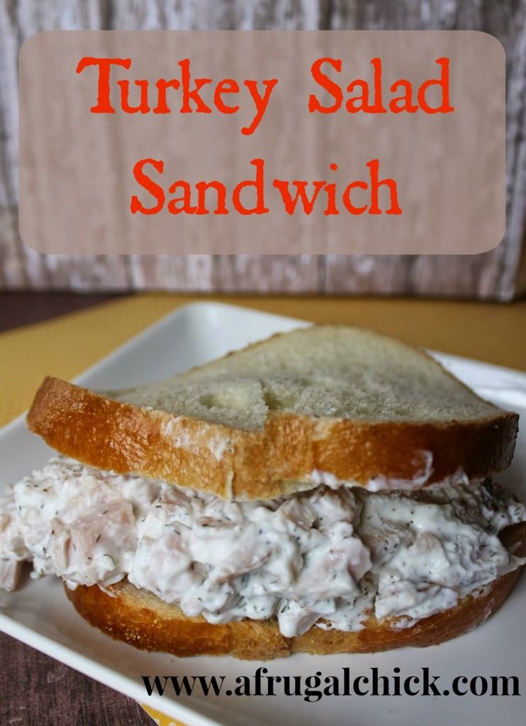 Roast Turkey Salad Sandwich
