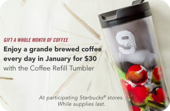 starbucks free january