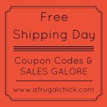 Free Shipping Day A Frugal Chick