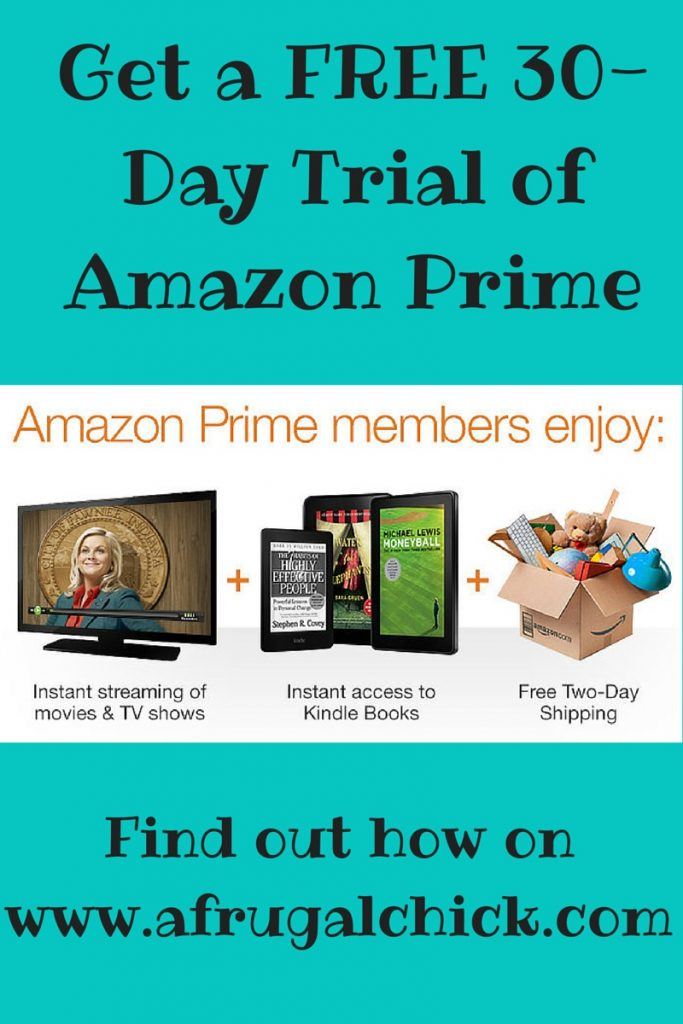 Get a FREE 30-Day Trial for Amazon Prime