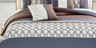 Helix 7 Piece Embroidered Comforter Set