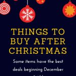 Things to buy after Christmas