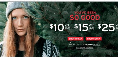aeropostale holiday sale