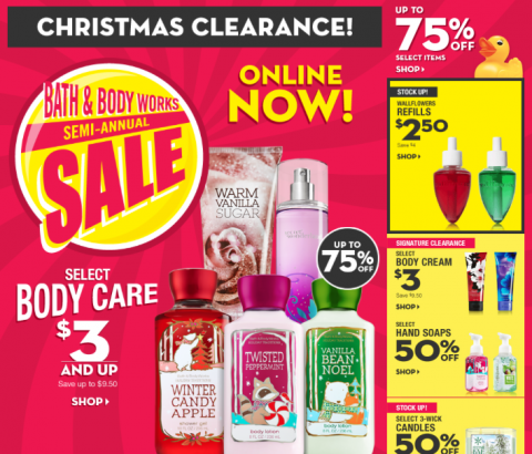 Twice a year, Bath & Body Works has its popular semi-annual sale in which you can find the best deals on your favorite body lotions, candles, wallflowers and more.
