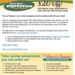 harris teeter express lane shopping twenty off