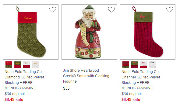 jcpenney monogrammed stocking