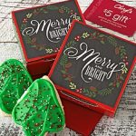 merry and bright cookie card