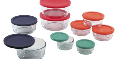 pyrex glass food container