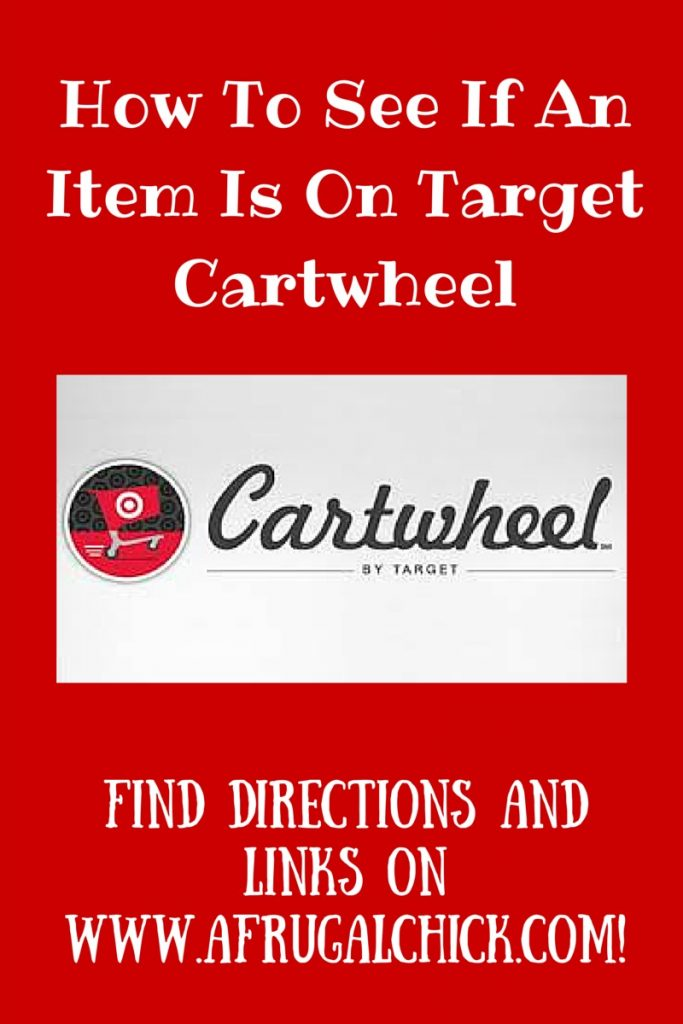 How To See If An Item Is On Target Cartwheel