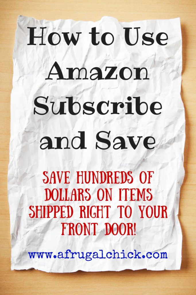 How to Use Amazon Subscribe and Save