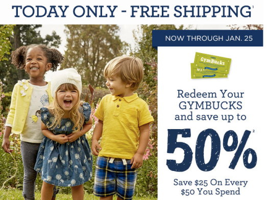 gymboree free shipping
