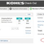 kohls check out