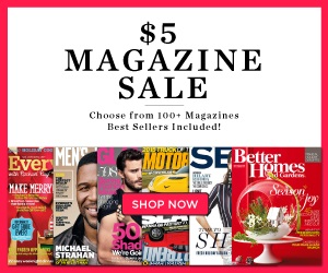 five dollar magazine sale square