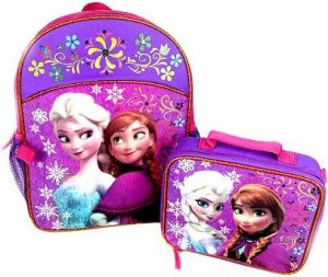 Anna and Elsa frozen bookbag and lunchbox