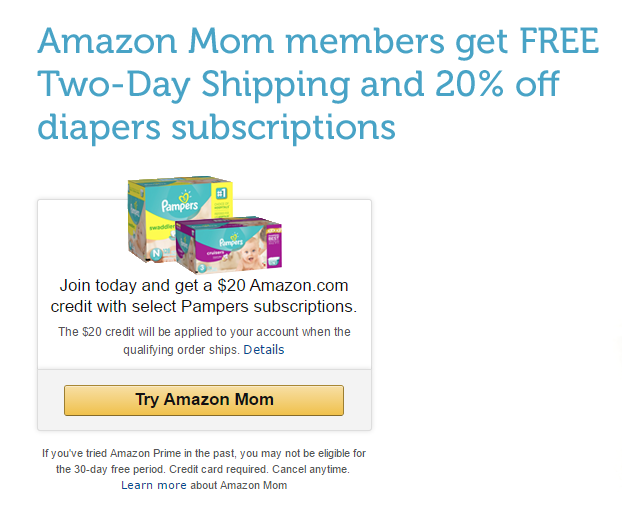 amazon mom pampers