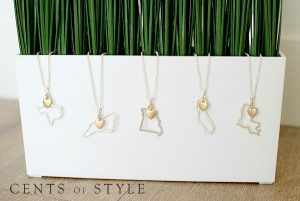 cents of style state necklaces plant