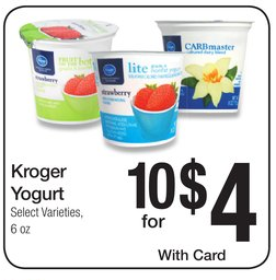 kroger yogurt
