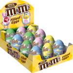 m&m filled eggs