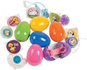 toy filled eggs