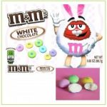white chocolate M & M