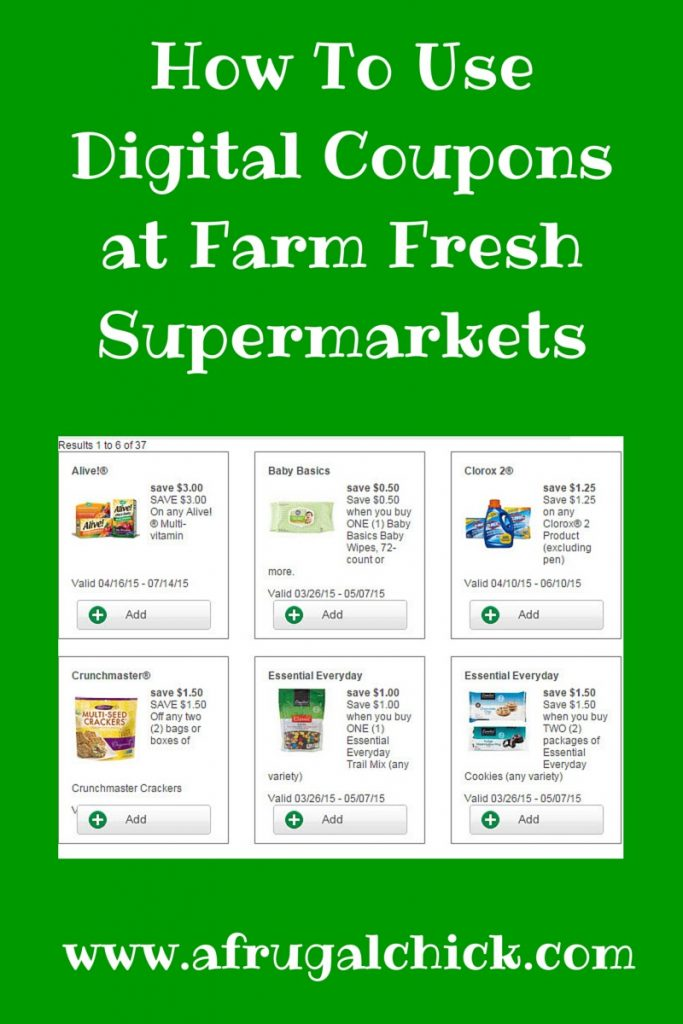 How To Use Digital Coupons at Farm Fresh