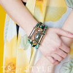 cents of style rope and bead bracelet