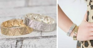 cents of style triangle bracelet 2
