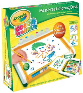 mess free coloring desk