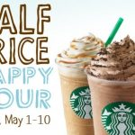starbucks half price happy hour