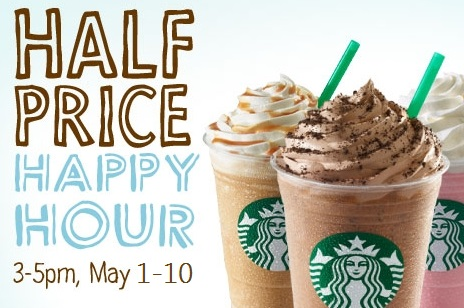 Happy Hour Starbucks Prices Starbucks Happy Hours Half