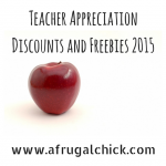 Teacher Appreciation Discounts and