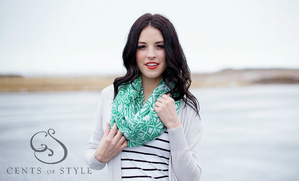 art deco infinity scarves