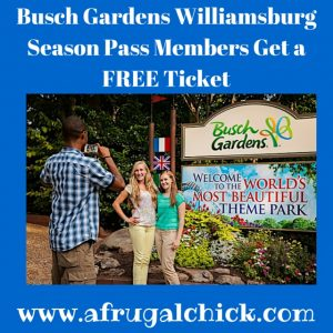 Beautiful Busch Gardens Passmembers Free Ticket