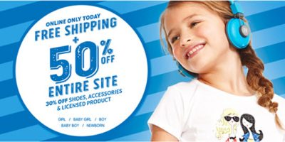 children's place fifty percent off