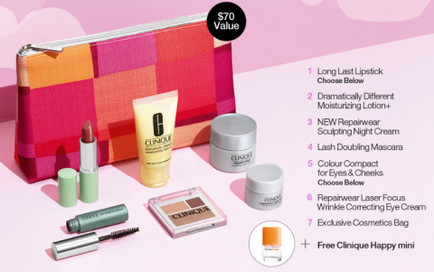 Clinique Bonus Time: Free 8 Piece Gift With $27 Purchase (Plus More)
