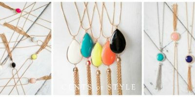 reversible fringe necklaces