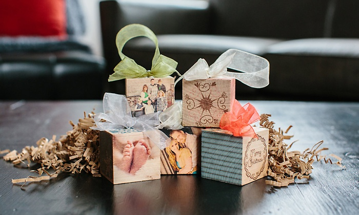 custom wooden photo block