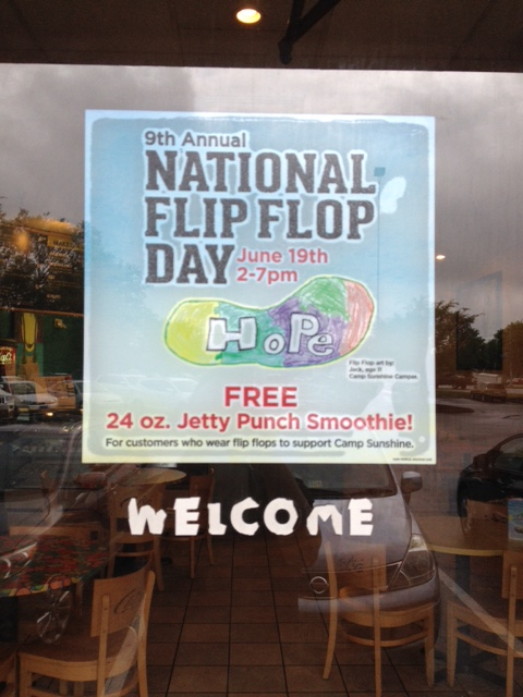 Tropical Smoothie Flip Flop Day Free Smoothies 2015