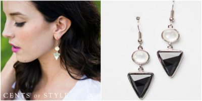 cents of style triangle earrings