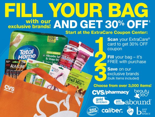 cvs  u2013 free reusable bag  u0026 30  off everything in it