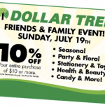 dollar tree friends and family