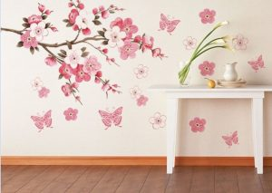 removable flower bedroom vinyl art decor