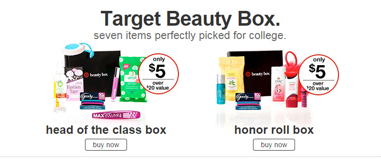 target beauty box college