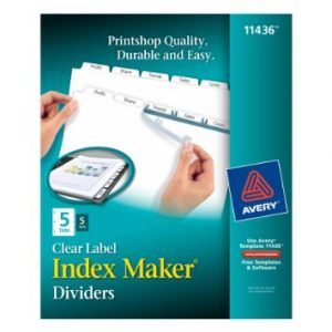 Avery Index Maker Divider