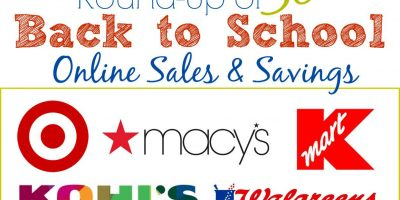 Round Up Back to School Sales and Savings