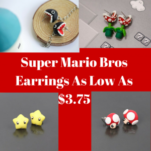 Super Mario Bros Earrings As Low As $3.75