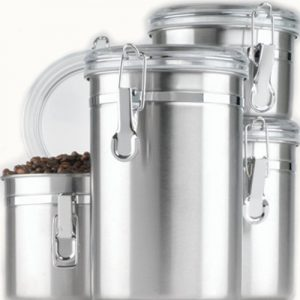 anchor hocking stainless steel canisters