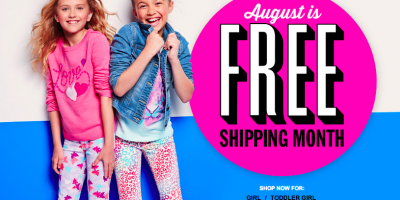 august is free shipping month