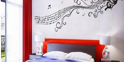 butterfly music decal