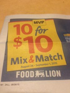 food lion mix and match sale